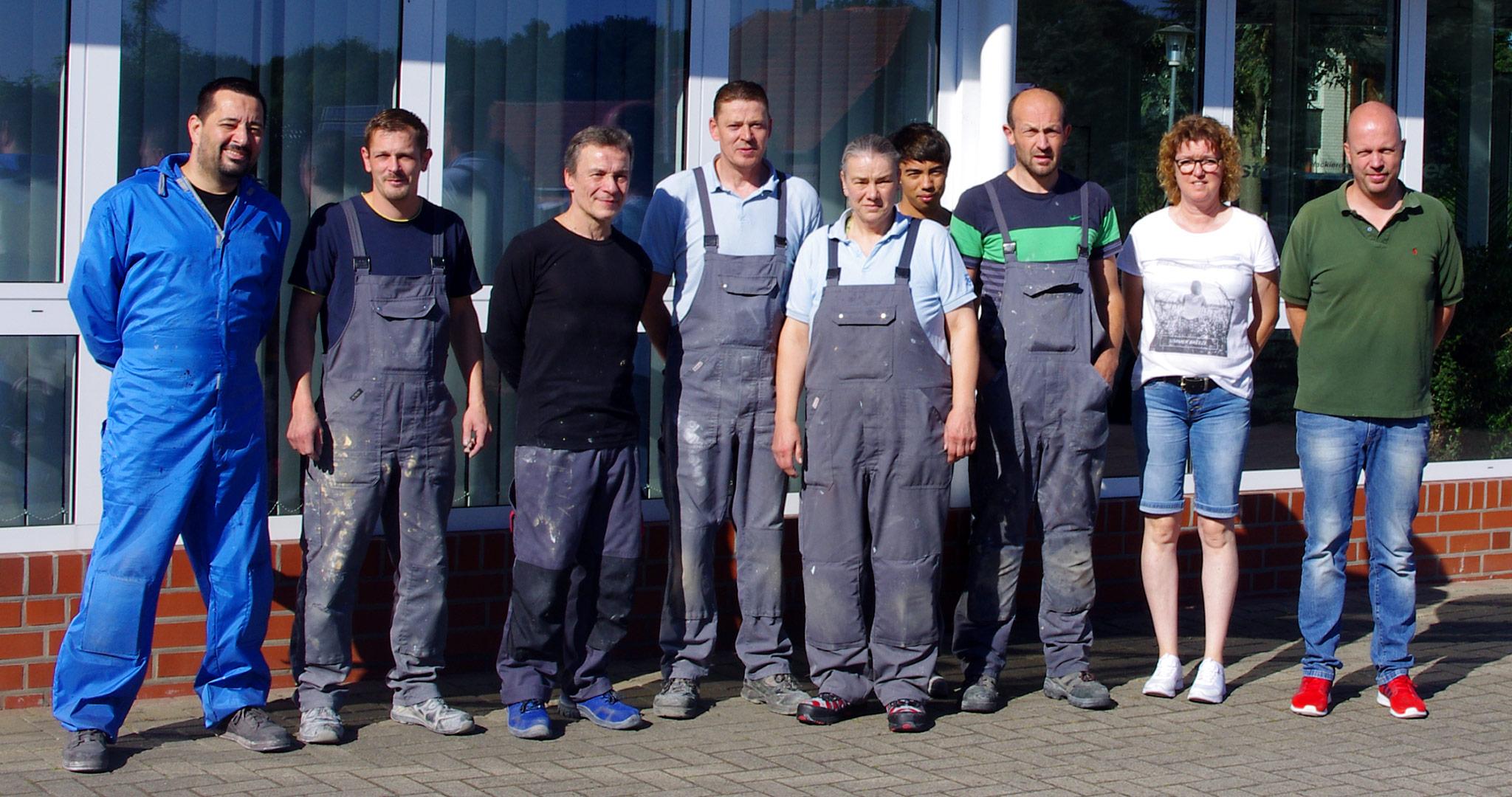Das Team der Autolackiererei Polster in Ganderkesee
